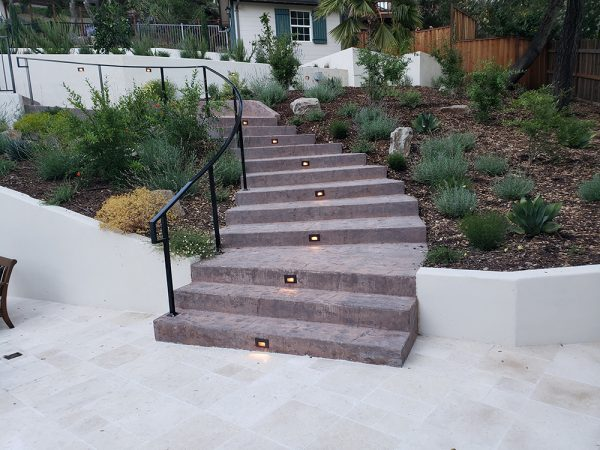 Stairs in landscaping