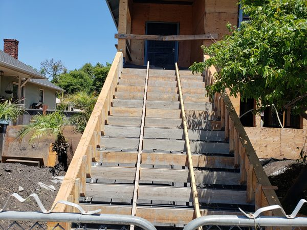 Front staircase construction