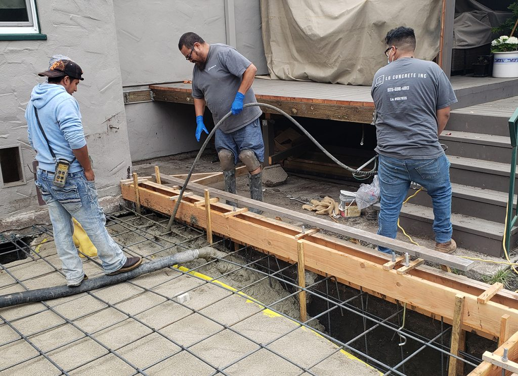 LG Concrete team at work