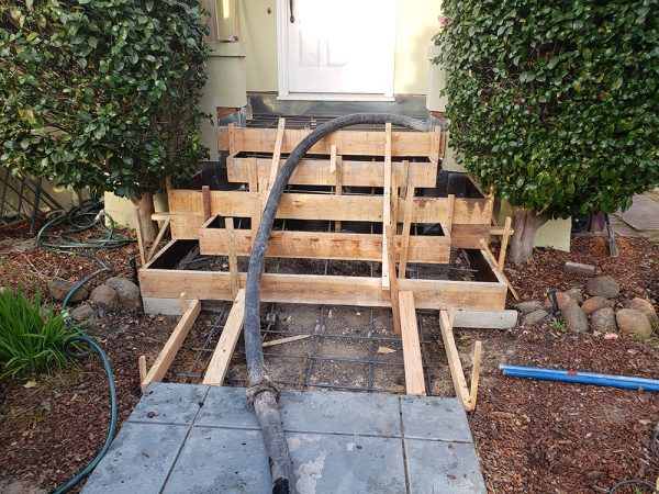 Front steps construction