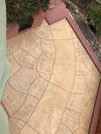 Stamped concrete design